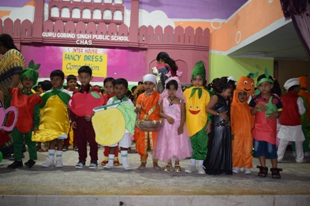 Students showing their creativity during Fancy Dress Competition.